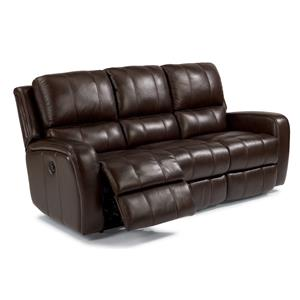 Flexsteel Latitudes-Hammond Double Reclining Sofa w/ Power