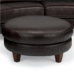 Flexsteel Latitudes-Lidia Round Cocktail Ottoman