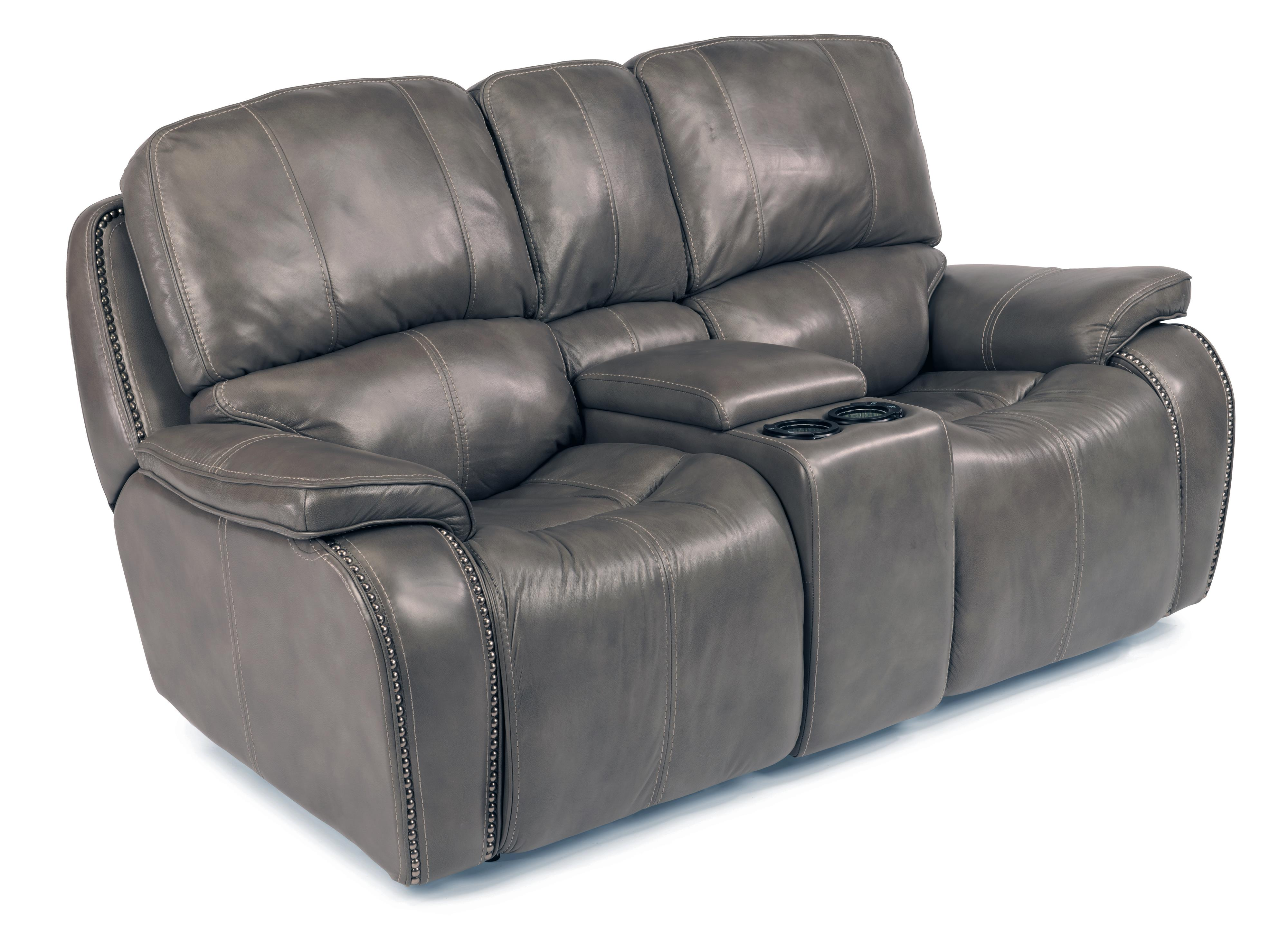 Power Reclining Loveseat With Storage And Light Up Cupholder Console