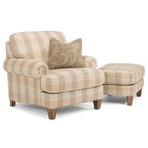 Flexsteel Luxury Chair & Ottoman (No Nails)