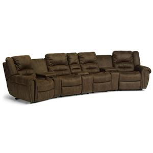 Flexsteel Latitudes - New Town Reclining Sectional Sofa
