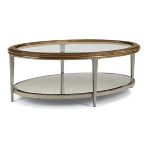 Flexsteel Patina Oval Cocktail Table
