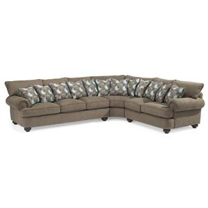 Flexsteel Patterson  3 Pc Sectional Sofa