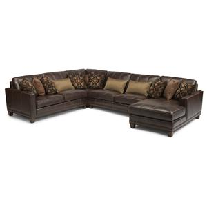 Flexsteel Latitudes - Port Royal 4 Pc Sectional Sofa