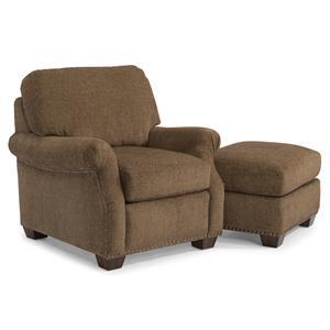 Flexsteel Richland Chair and Ottoman