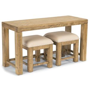 Flexsteel Sawyer Sofa Table and Ottoman Set