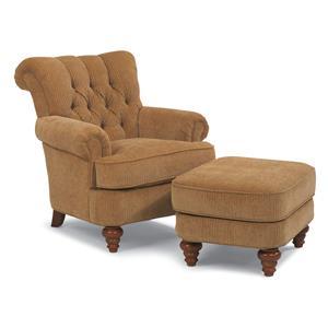 Flexsteel South Hampton South Hampton Chair and Ottoman