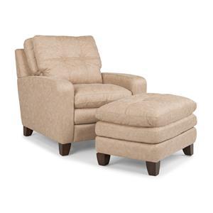 Flexsteel South Street Chair and Ottoman