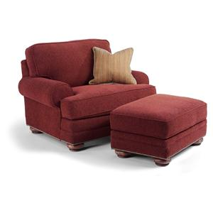 Flexsteel That's My Style Custom Chair and Ottoman Set