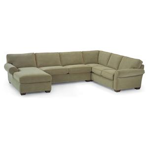 Flexsteel Vail Stationary Sectional Sofa