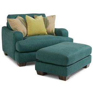Flexsteel Vanessa Chair and Ottoman