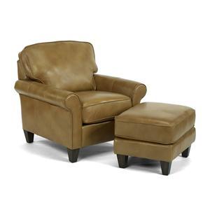 Flexsteel Westside Chair and Ottoman