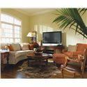 Flexsteel Westside Casual Conversation Sofa - Shown in Living Room with Matching Chair and Ottoman