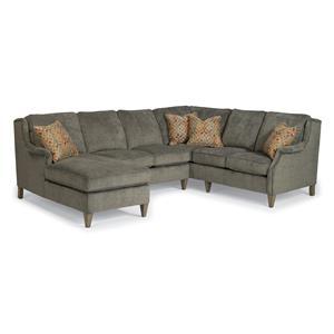 Flexsteel Zevon 3 Pc Sectional Sofa w/ LAF Chaise