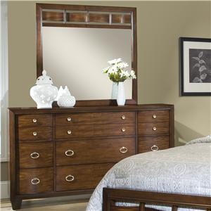 Belfort Essentials Rock Creek Dresser and Mirror Set
