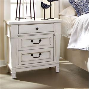 Folio 21 Astoria Three Drawer Night Stand