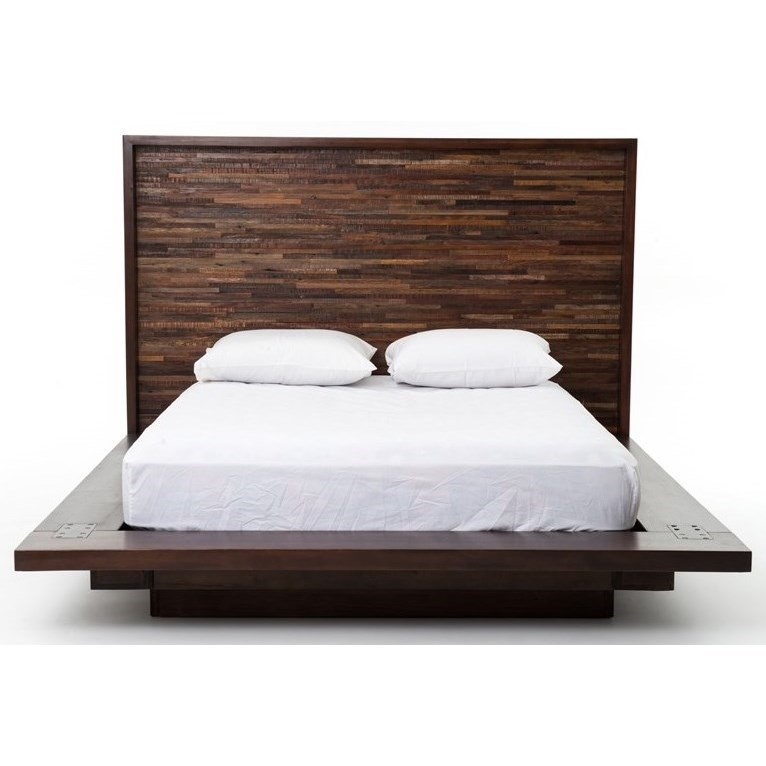 Devon Queen Bed With Reclaimed Wood Headboard By Four