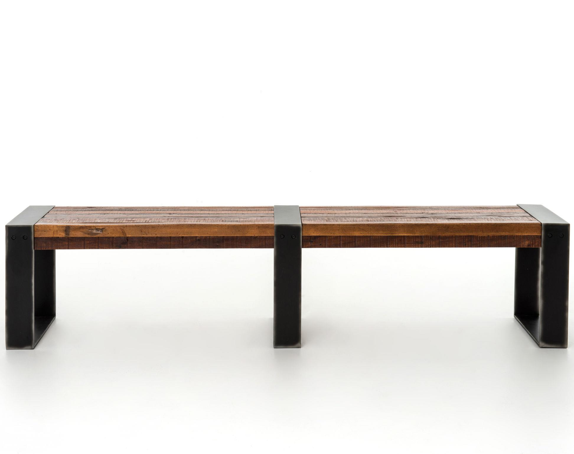 Warren Bench With Metal Frame By Four Hands Wolf And