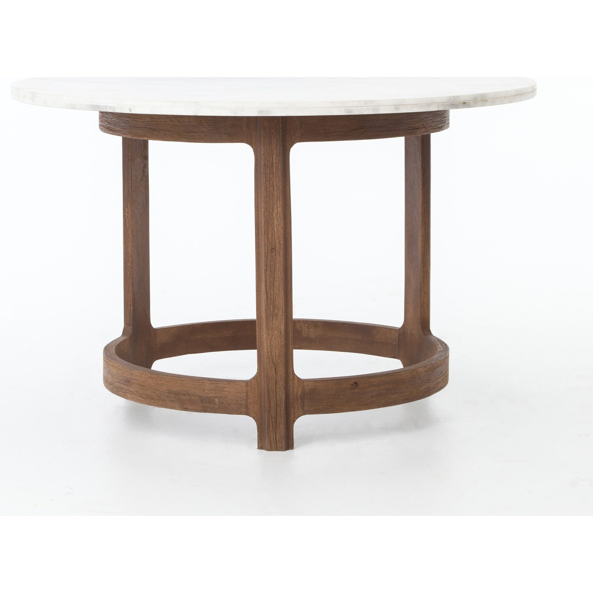 Gibson Bistro Table With Polished White Marble