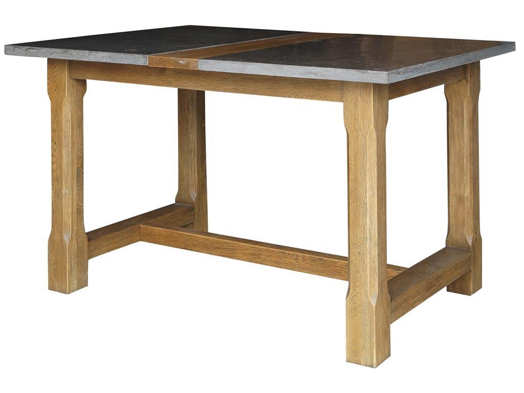 Farmhouse Pub Table With Bluestone Top
