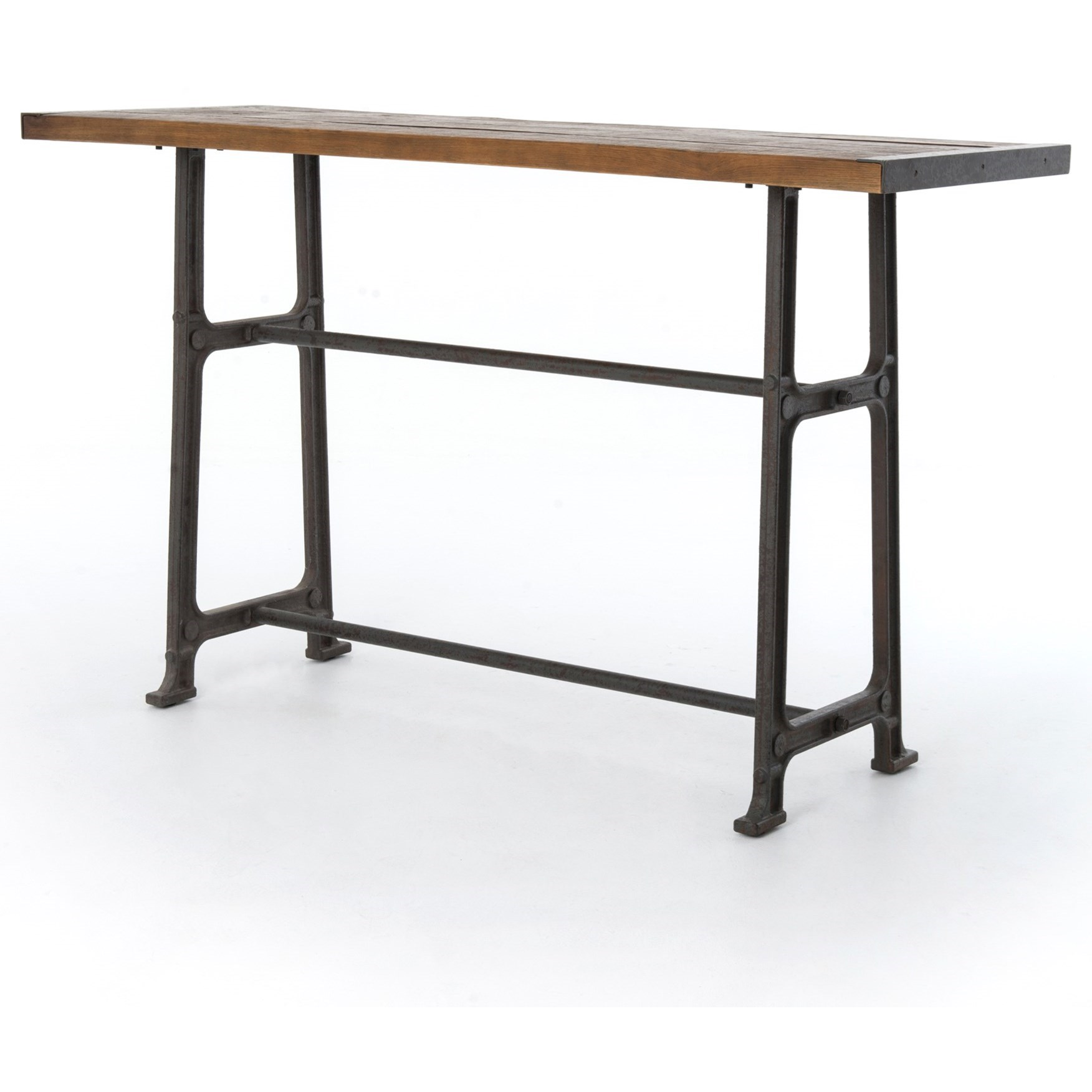 Alistair pub table with distressed top by four hands wolf and alistair pub table with distressed top watchthetrailerfo