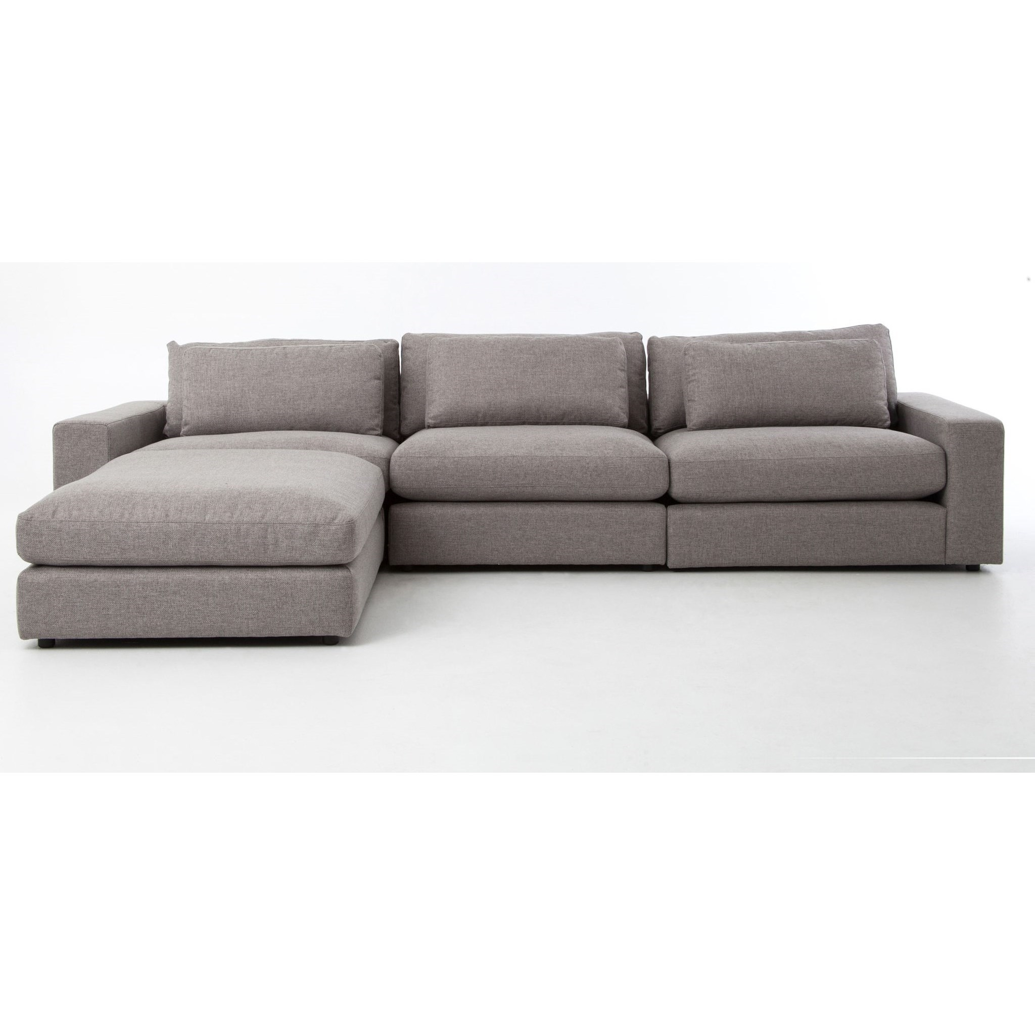 Bloor Sofa with Ottoman in Chess Pewter Fabric by Four Hands