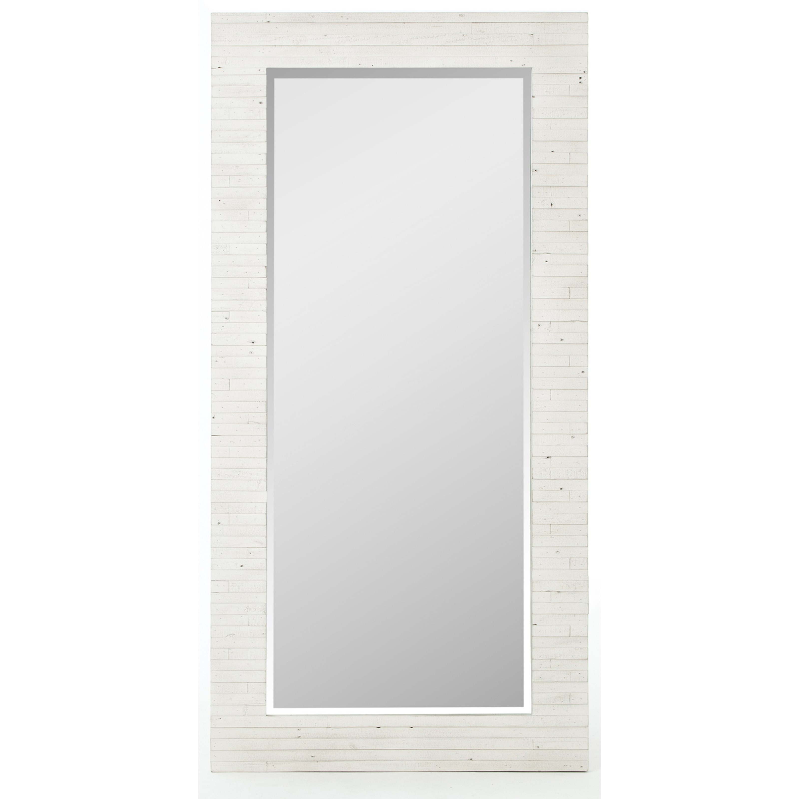 Floor Mirror with White Reclaimed Wood Frame by Four Hands | Wolf ...