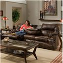 Franklin 6460 Sofa Recl / Table - Item Number: 64644 8928-15