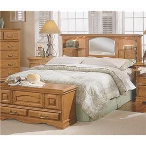 Furniture Traditions Master-Piece Queen Bookcase Headboard