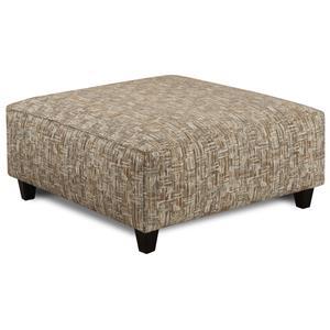 Fusion Furniture Geneva Taupe Script Square Ottoman