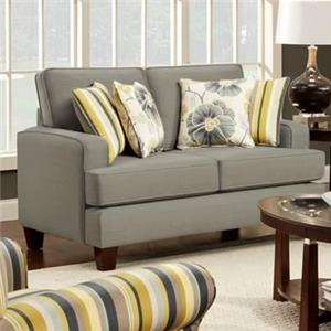 Fusion Furniture 2490 Upholstered Loveseat