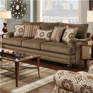 Fusion Furniture Champ Walnut Sofa