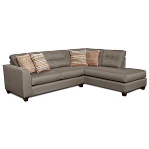 Fusion Furniture Fandango Mocha Sectional Sofa