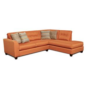 Fusion Furniture Fandango Flame Sectional Sofa