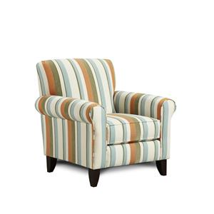 Fusion Furniture Stallion Turquoise Accent Chair