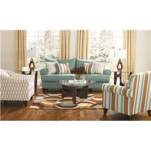 Fusion Furniture Stallion Turquoise Stationary Living Room Group