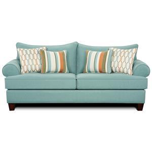 Fusion Furniture Stallion Turquoise Sofa