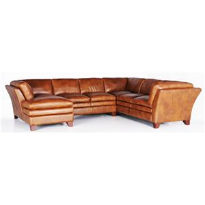 Futura Leather 7203 Sectional Sofa