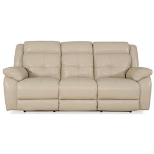 Futura Leather 7439 Sofa With Pillow Top Arms Stoney