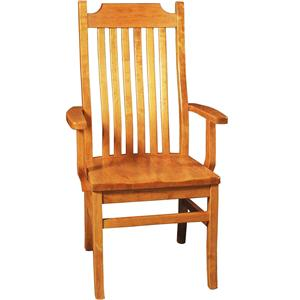 Greenbrier Dining Madison Arm Chair with Wood Seat