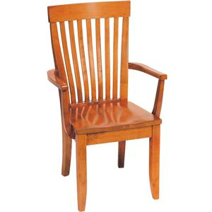 Greenbrier Dining Monterey Arm Chair with Wooden Seat