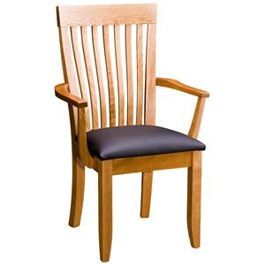 Greenbrier Dining Monterey Arm Chair with Leather Seat