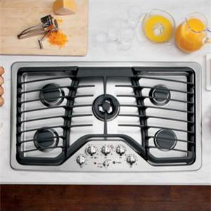 "GE Appliances Gas Cooktops 36"" Built-In Gas Cooktop"