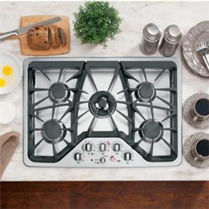 "GE Appliances Gas Cooktops 30"" Built-In Gas Cooktop"