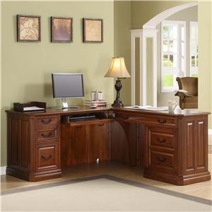 Golden Oak by Whalen Augusta Return Desk
