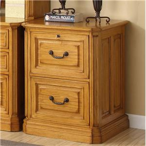 Golden Oak by Whalen Cambria 2 Drawer File