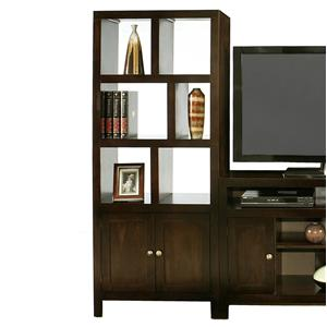 Golden Oak by Whalen Del Mar Room Divider Tower with Door