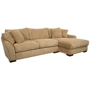 Fairmont Seating Mirage  Sectional Sofa Sleeper with Right Chaise