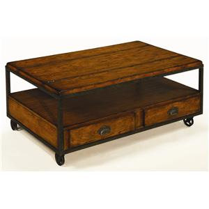 Hammary Baja Rectangular Storage Cocktail Table