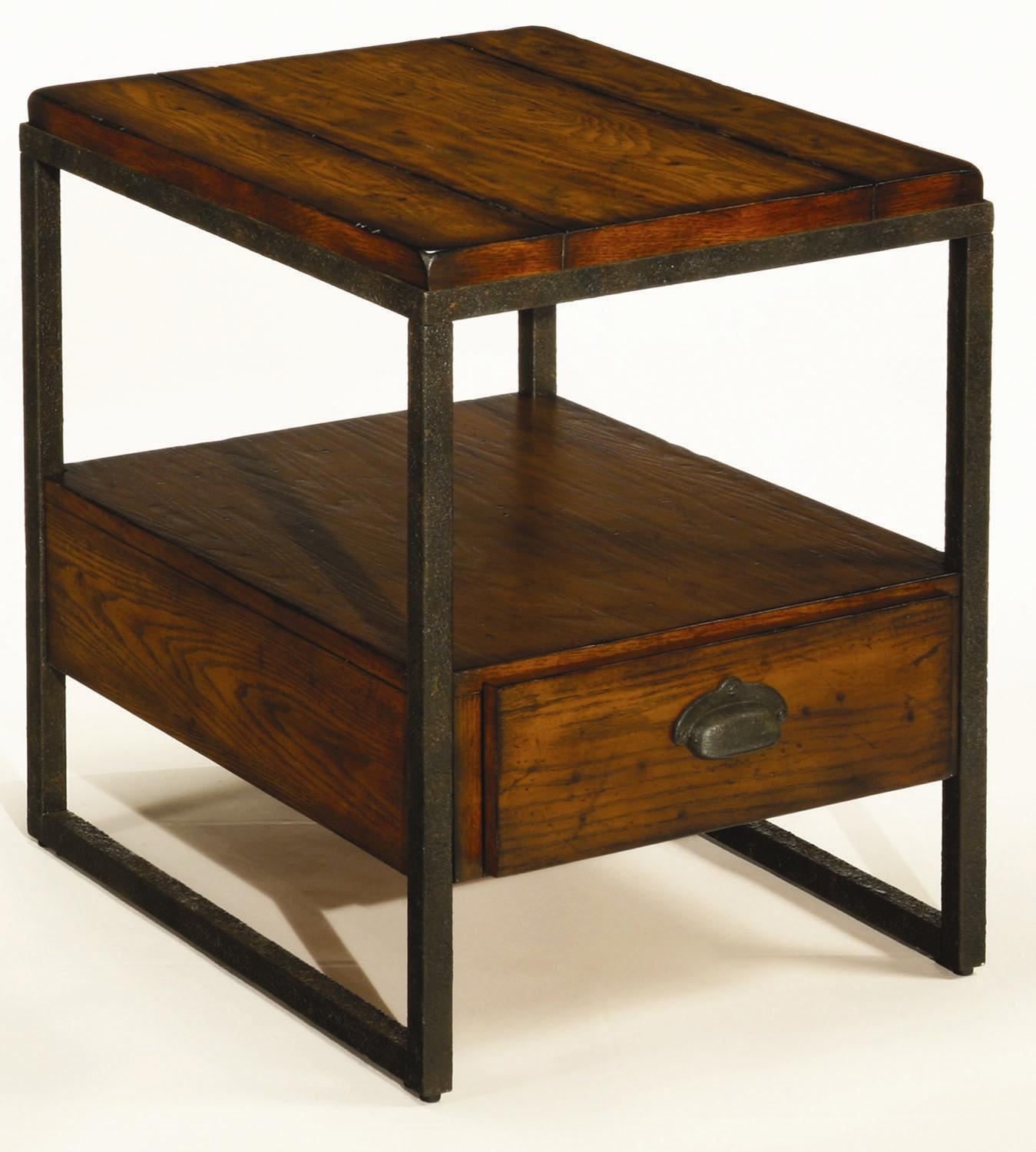 end tables with drawers Rectangular End Table with Drawer by Hammary | Wolf and Gardiner  end tables with drawers